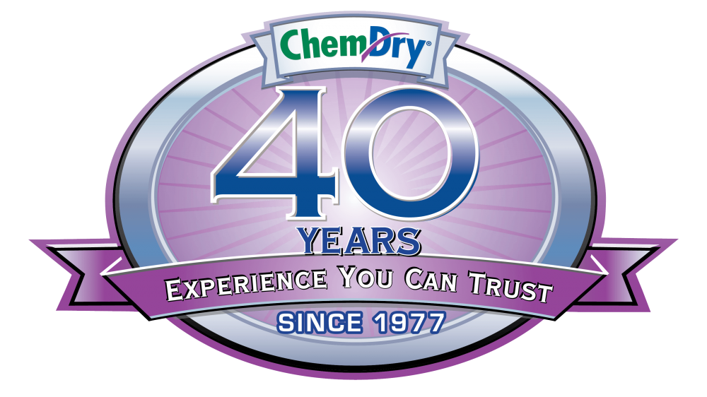 chem dry 40 years of experience you can trust badge